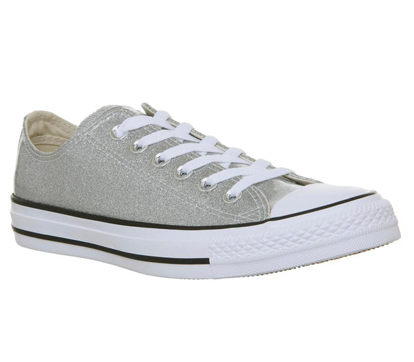 Womens Converse Converse All Star Low Silver White Uk Size 6