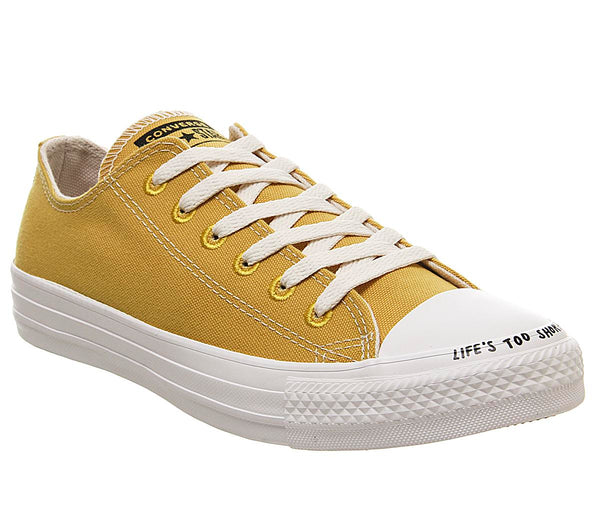 Odd sizes - Mens Converse All Star Low Gold Dart Black White Recycle Sizes R6/L5