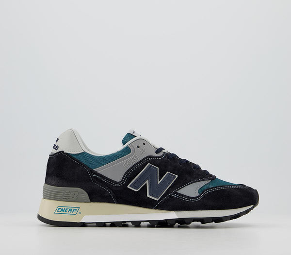 Mens New Balance M577 Trainers Navy Grey