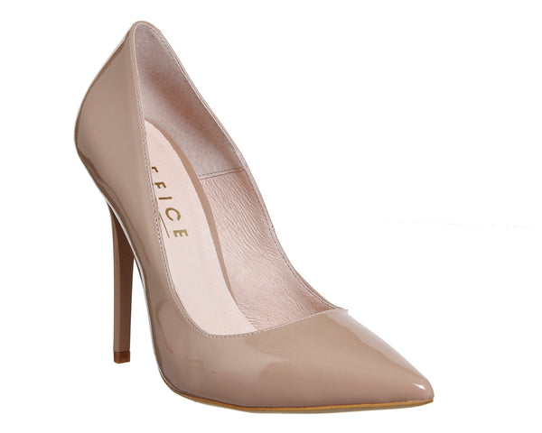 Womens Office Onto Point Court Light Nude Patent Uk Size 4