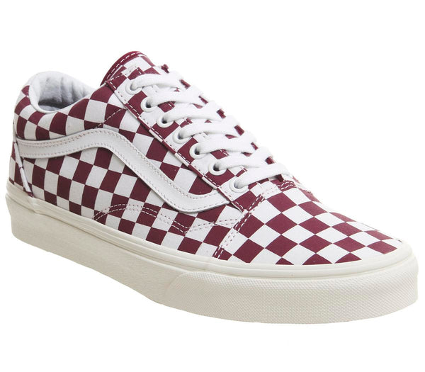 Mens Vans Old Skool Port Royale Marshmellow Checkerboard