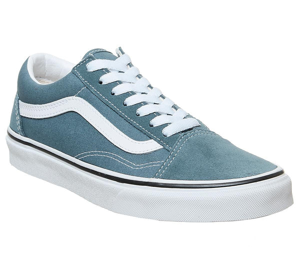 Mens Vans Old Skool Blue Mirage True White Uk Size 6