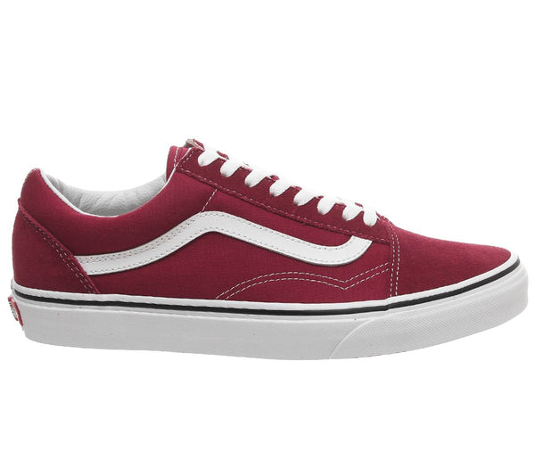 Womens Vans Old Skool Rumba Red True White Uk Size 4