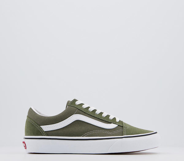 Mens Vans Old Skool Trainers Grape Leaf True White