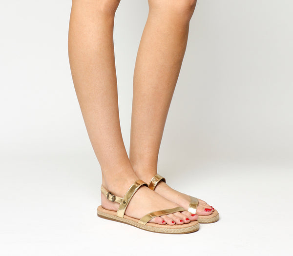 Womens Ugg Brylee Sandal Soft Gold Patent