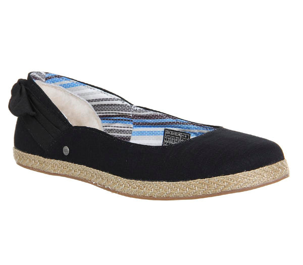 Womens Ugg Perrie Slip On Black Canvas