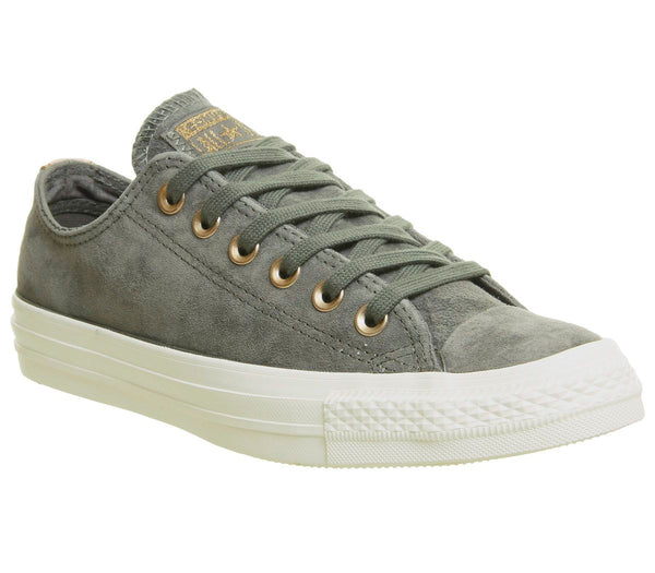 Converse All star Low Leather Trainers River Rock Storm Pink Metallic Exclusive