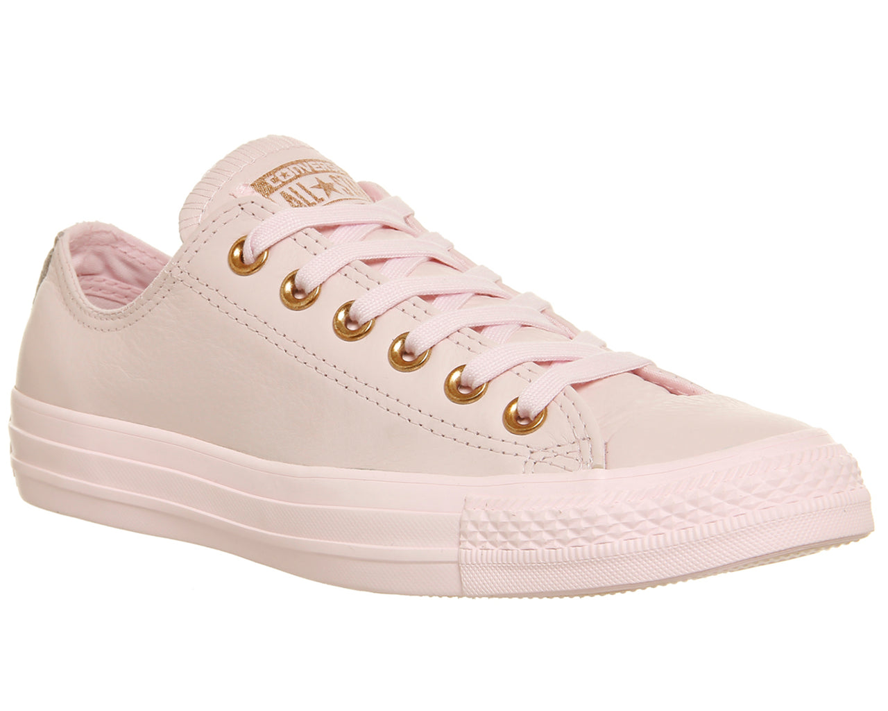 Womens Converse Allstar Low Leather Artic Pink Rose Gold Trainers