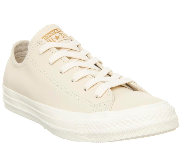 Womens Converse Allstar Low Leather Natural Ivory Egret Minimal Uk Size 4