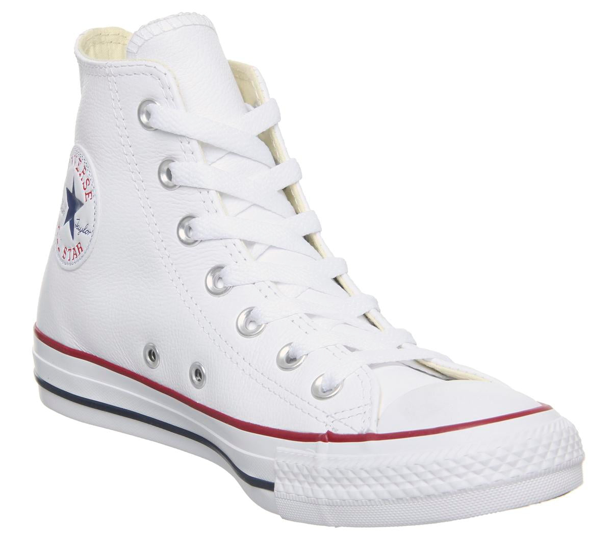 Womens Converse All Star Hi Leather Optical White Trainers