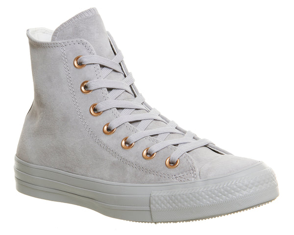 Womens Converse All Star Hi Leather Ash Grey Rose Gold