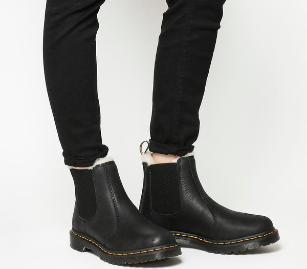 Womens Dr.Martens Leonore Boot Black Shearling Uk Size 3