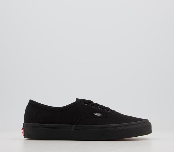 Odd sizes - Mens Vans Authentic Black Mono Trainers UK Sizes R7/L8