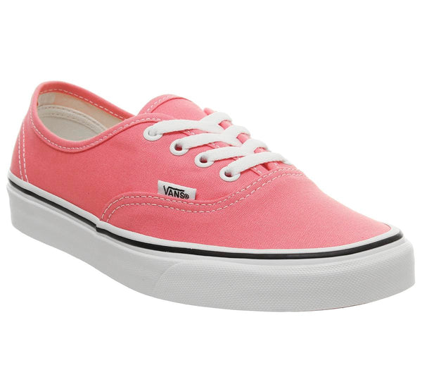 Womens Vans Authentic Strawberry Pink True White