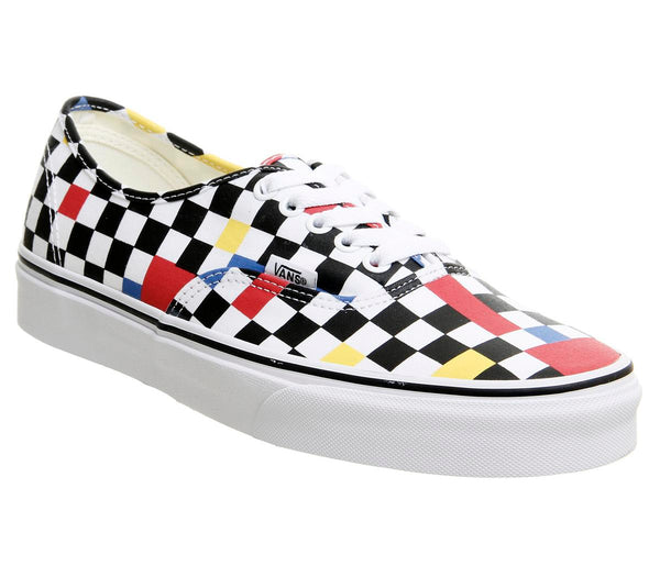 Mens Vans Authentic Geometric Multi Black True White