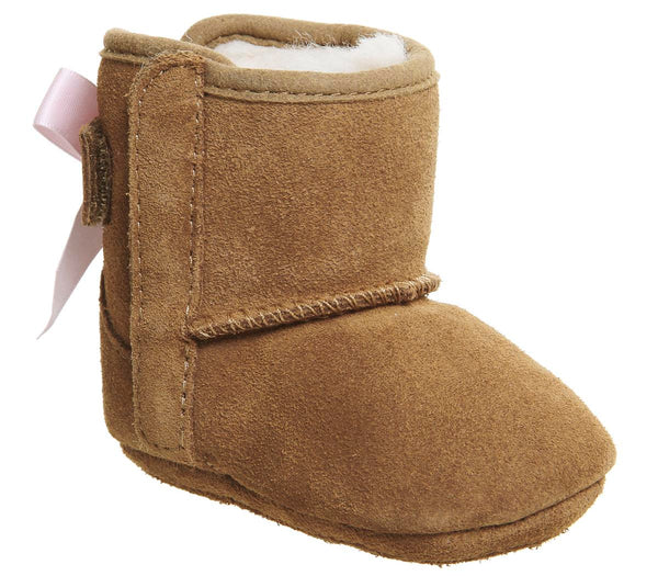 Kids Ugg Jesse Chestnut Bow Uk Size 2 Crib