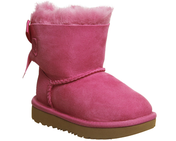 Kids Ugg Bailey Bow Infant Pink Azalea Uk Size 5 Infant
