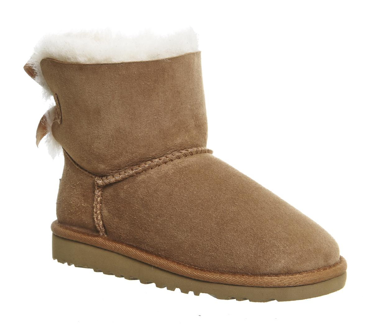 Kids Ugg Bailey Bow Youth Chestnut