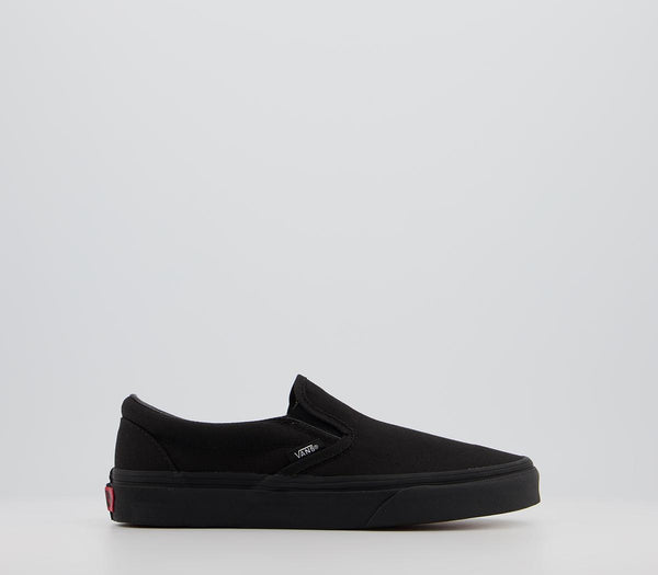 Odd sizes - Mens Vans Classic Slip On Black Mono Trainers UK Sizes R10/L11