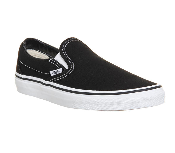Womens Vans Classic Slip On Black White