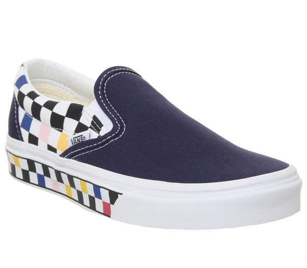 Mens Vans Classic Slip On Peacoat True White Checker