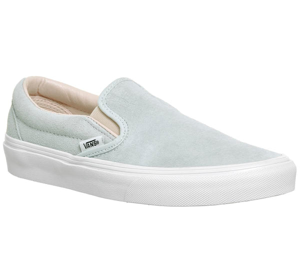 Womens Vans Classic Slip On Illusion Blue Silver Peony