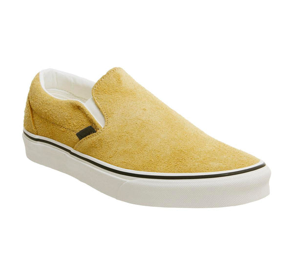 Unisex Vans Vans Classic Slip On Sunflower Snow White Hairy Suede