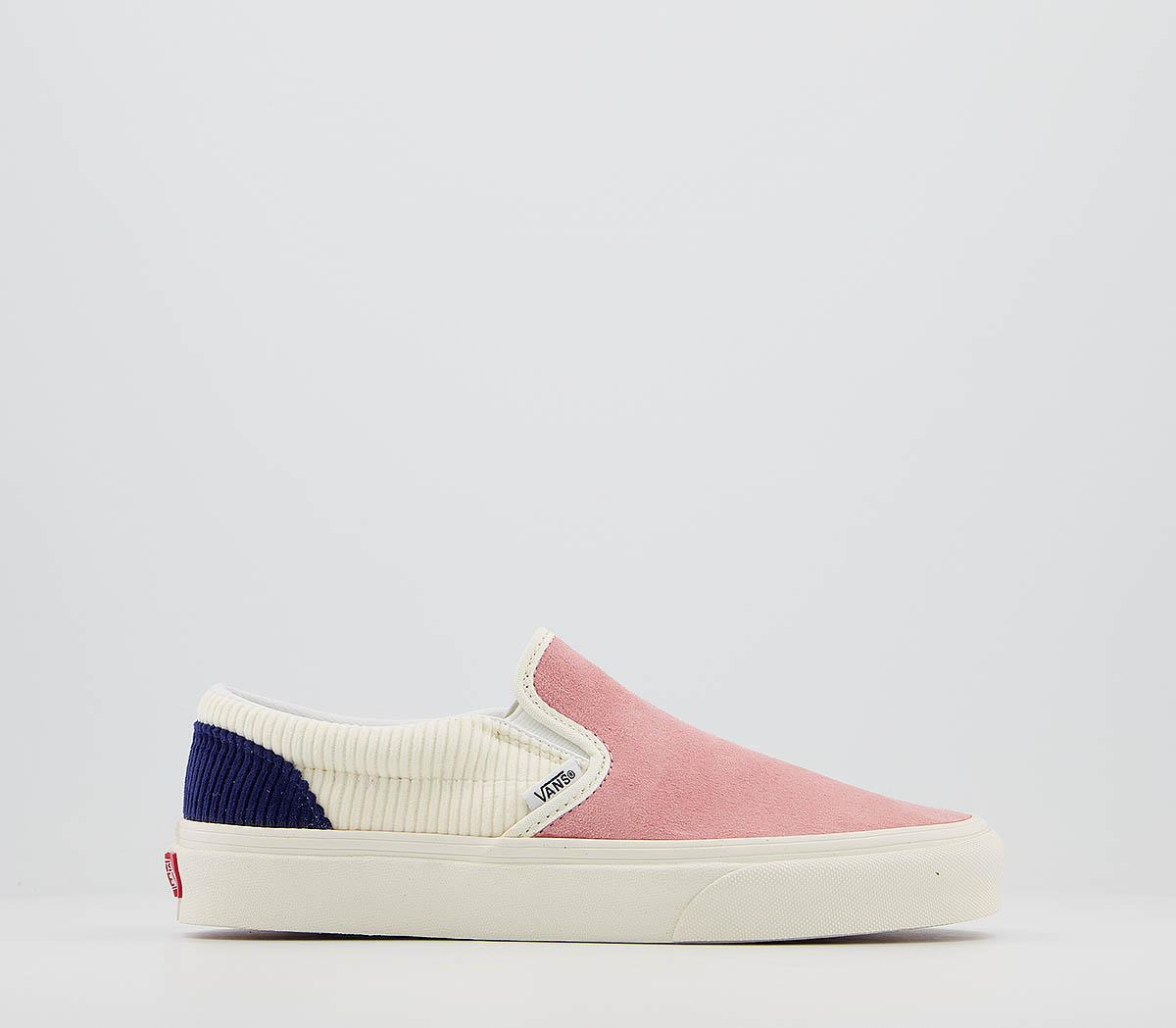Vans Classic Skip On Pink Icing Whisper White Blueprint Cord Trainers
