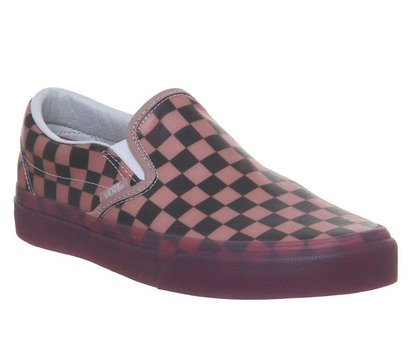 Mens Vans Vans Classic Slip On Porcini Checkerboard Uk Size 7
