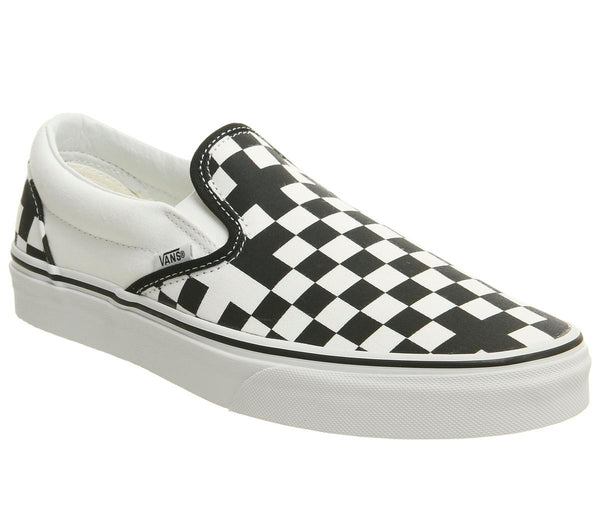 Mens Vans Classic Slip On Geometric Black True White