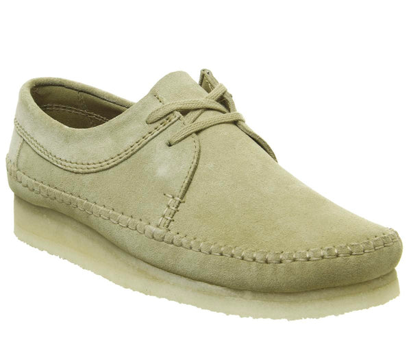 Mens Clarks Weaver Shoe Maple Suede New