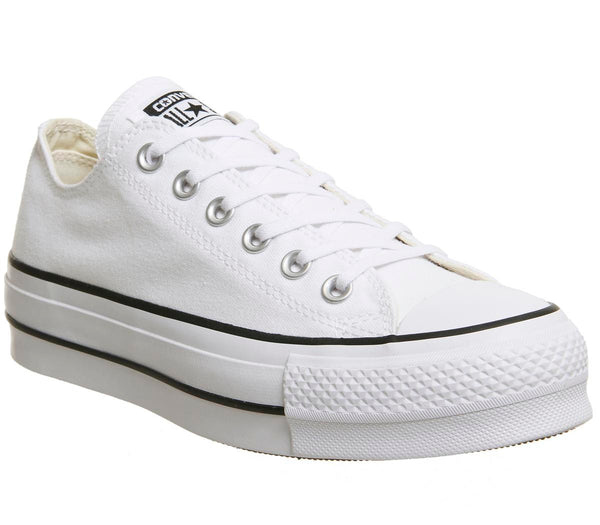 Womens Converse All Star Low Platform White Garnet Navy Uk Size 4