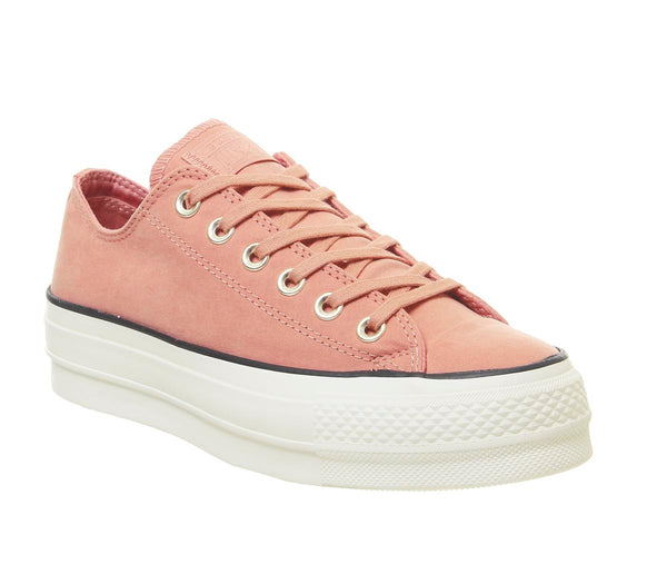 Womens Converse All Star Low Platform Pink Blush Black Egret Uk Size 3