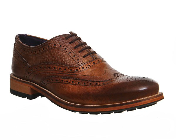 Mens Ted Baker Guri 8 Brogue Tan Leather Uk Size 8