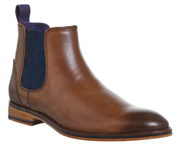 Mens Ted Baker Camroon 4 Chelsea Boots Brown Leather