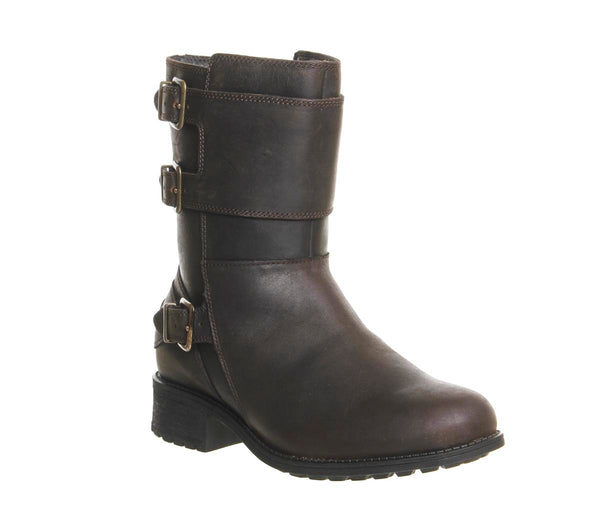 Womens Ugg Wilcox Mid Boot Stout Leather