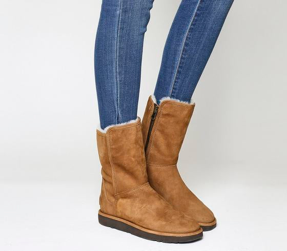 Womens Ugg Classic Lux Abree Short Chestnut Suede