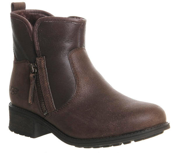 Womens Ugg Lavelle Zip Boot Stout Leather