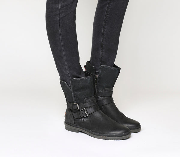 Womens Ugg Simmens Boot Black Suede Leather