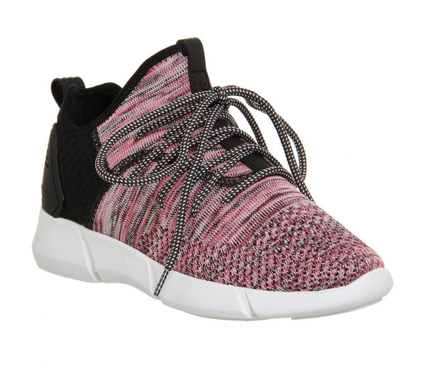 Womens Cortica Infinity 2.0 Runner (W) Pink Black Knit