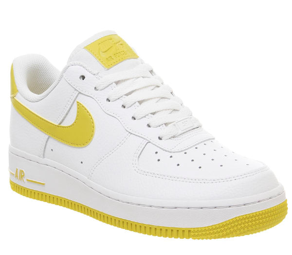 Womens Nike Air Force 1 07 White Bright Citron Uk Size 4.5