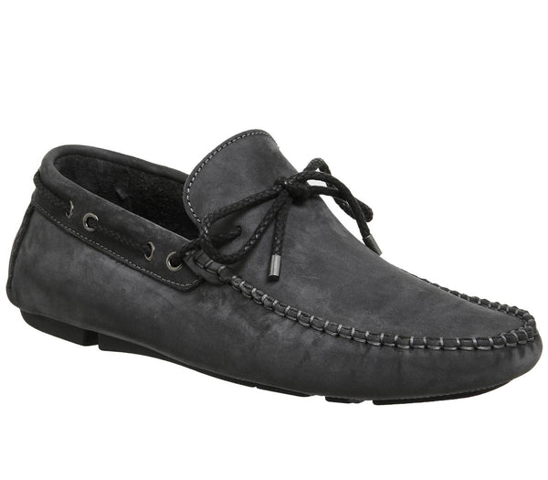Mens Ask The Missus Bounty Driver Dark Grey Nubuck