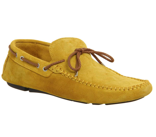 Mens Ask The Missus Bounty Driver Mustard Suede