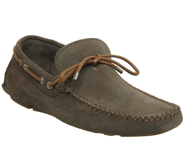 Mens Ask The Missus Bounty Driver Khaki Suede