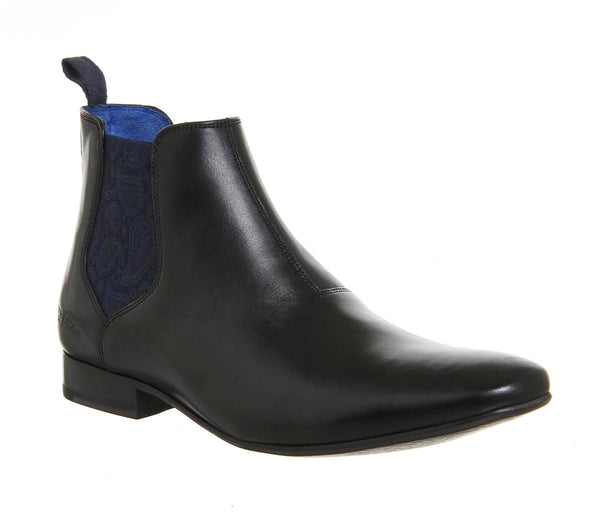 Mens Ted Baker Hourb 2 Chelsea Boot Black Leather Uk Size 9