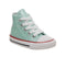 Kids Converse Small Star Hi Canvas Teal Tint Glitter White