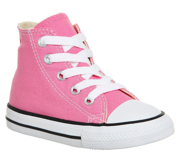 Kids Converse Small Star Hi Canvas Pink Canvas Uk Size 2 Crib