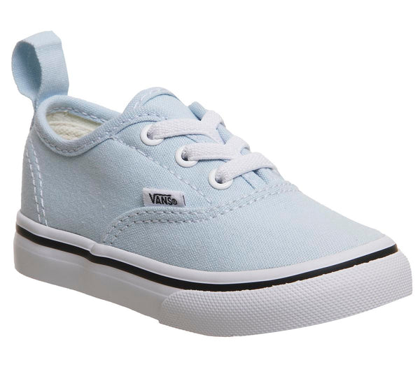 Kids Vans Authentic Toddlers Baby Blue True White