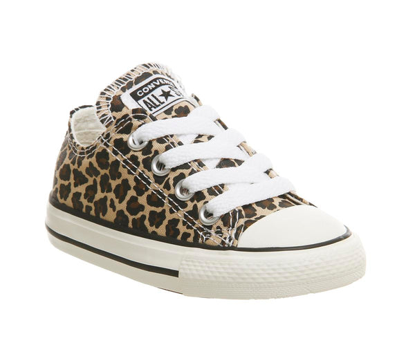 Kids Converse Allstar Low Infant Leopard