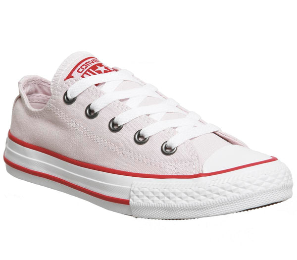 Kids Converse All Star Low Youth Barely Rose Enamel Red